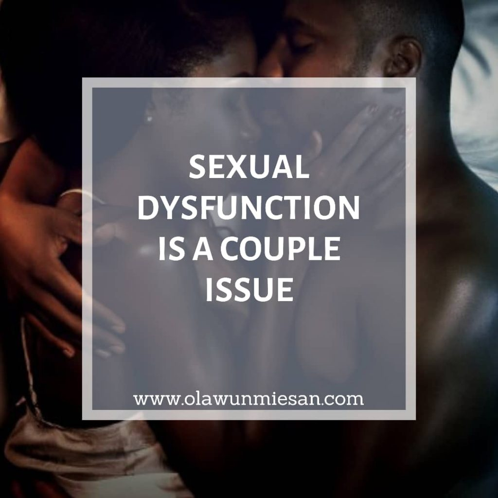 ERECTILE DYSFUNCTION IS A COUPLES ISSUE